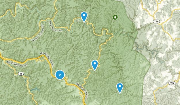 Pine Ridge, Kentucky Dogs On Leash Map