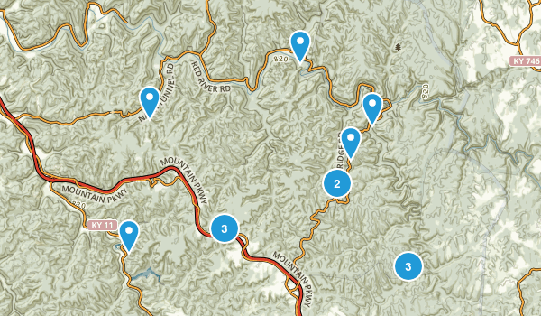 Pine Ridge, Kentucky Nature Trips Map