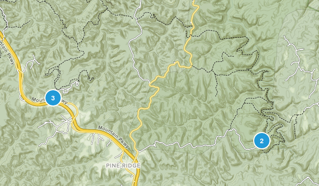 Pine Ridge, Kentucky Trail Running Map