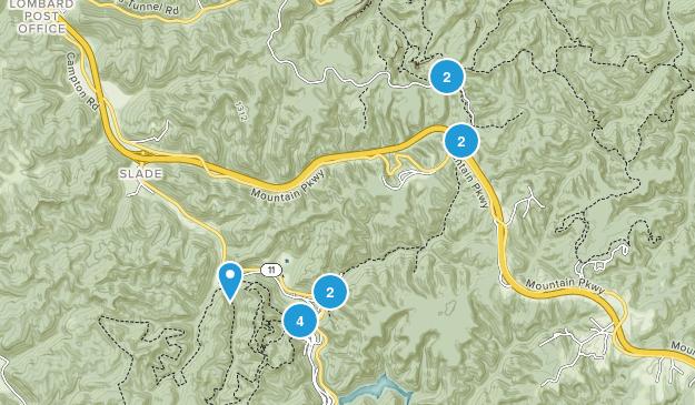 Slade, Kentucky Hiking Map