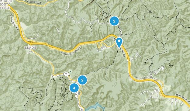 Slade, Kentucky Nature Trips Map