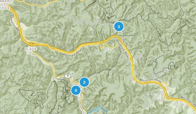 Slade, Kentucky Walking Map
