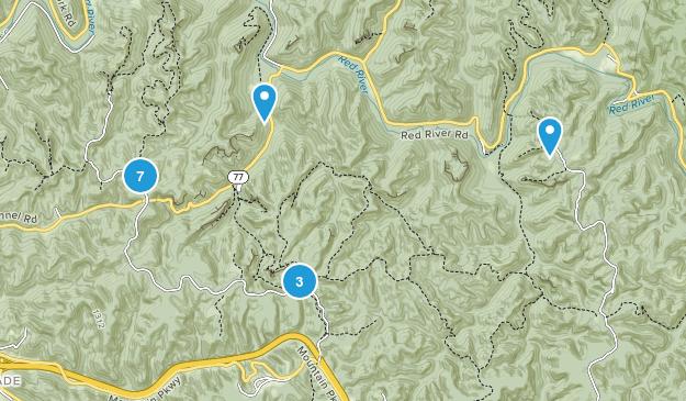 Stanton, Kentucky Forest Map