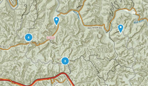 Stanton, Kentucky Nature Trips Map