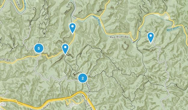 Stanton, Kentucky Walking Map