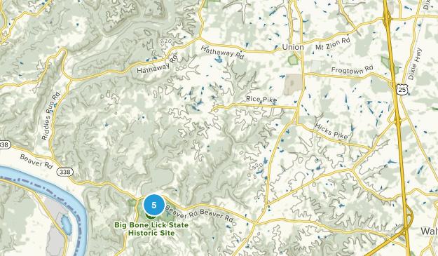 Union, Kentucky Hiking Map