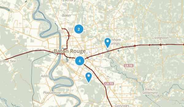 Baton Rouge, Louisiana Walking Map