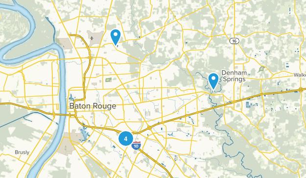 Baton Rouge, Louisiana Wild Flowers Map