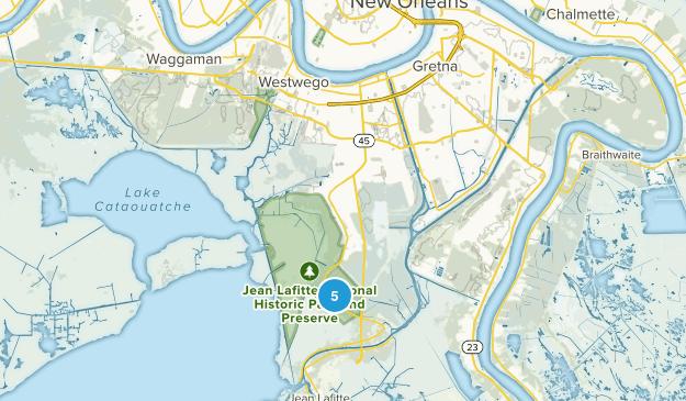 Marrero, Louisiana Walking Map