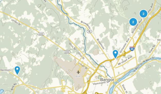 Bangor, Maine Hiking Map