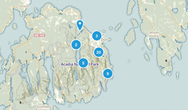 Bar Harbor, Maine Birding Map