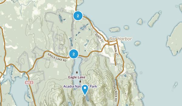 Bar Harbor, Maine Mountain Biking Map