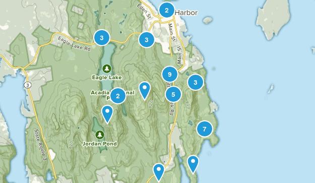 Bar Harbor, Maine Wild Flowers Map