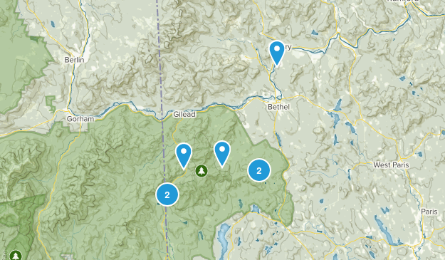 Bethel, Maine Nature Trips Map