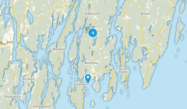 Boothbay, Maine Hiking Map