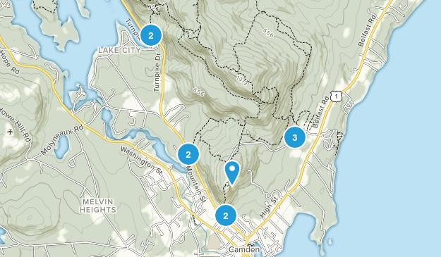 Camden, Maine Forest Map