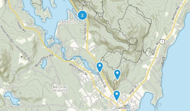 Camden, Maine Kid Friendly Map