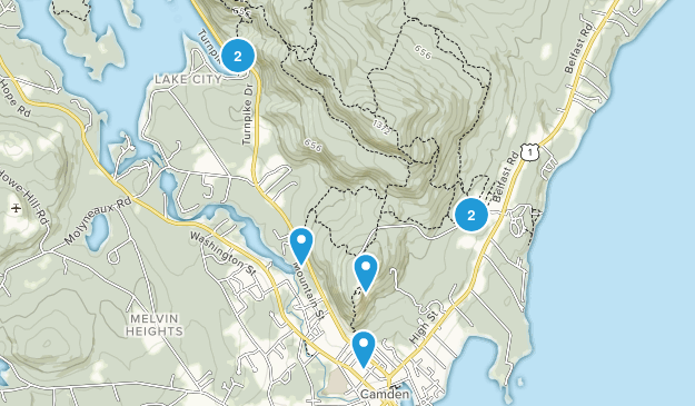Camden, Maine Walking Map