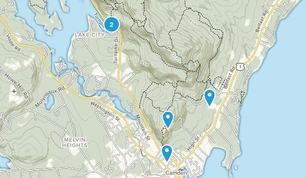 Camden, Maine Wild Flowers Map