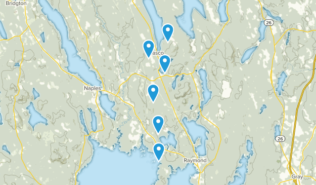Casco, Maine Forest Map