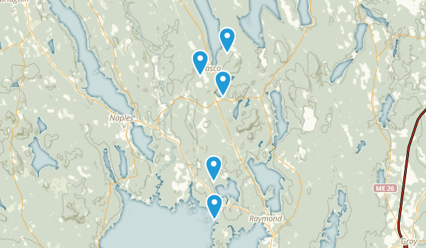 Casco, Maine Hiking Map