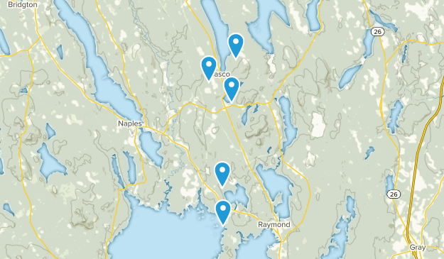 Casco, Maine Hiking Map
