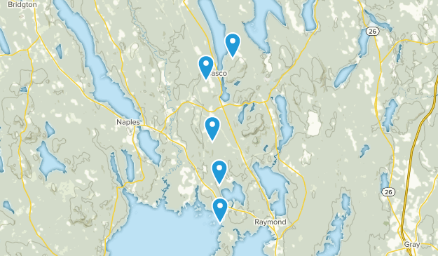 Casco, Maine Walking Map