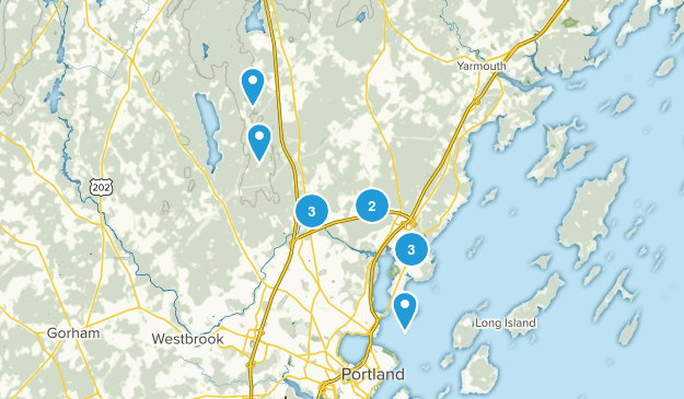 Falmouth, Maine Hiking Map
