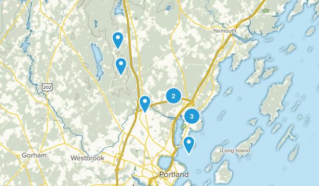 Falmouth, Maine Walking Map