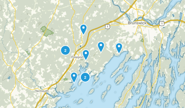 Freeport, Maine Forest Map