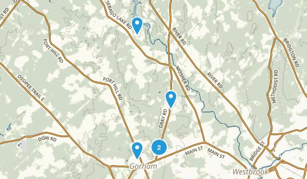 Gorham, Maine Dogs On Leash Map