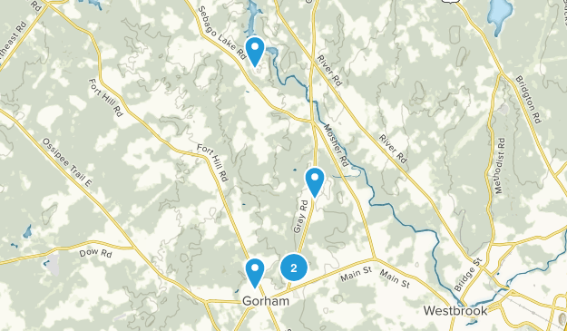 Gorham, Maine Dogs On Leash Map
