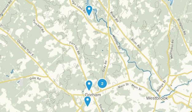 Gorham, Maine Trail Running Map