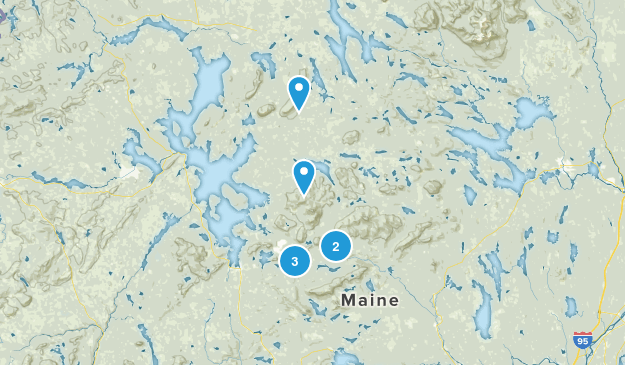Greenville, Maine Hiking Map
