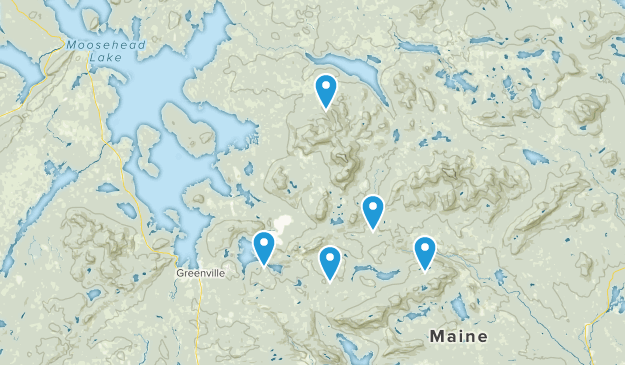 Greenville, Maine Nature Trips Map