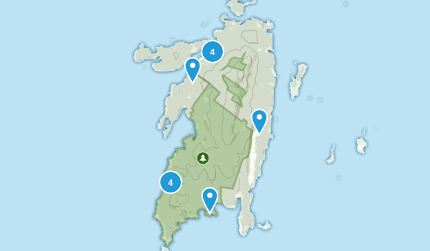 Isle Au Haut, Maine Forest Map