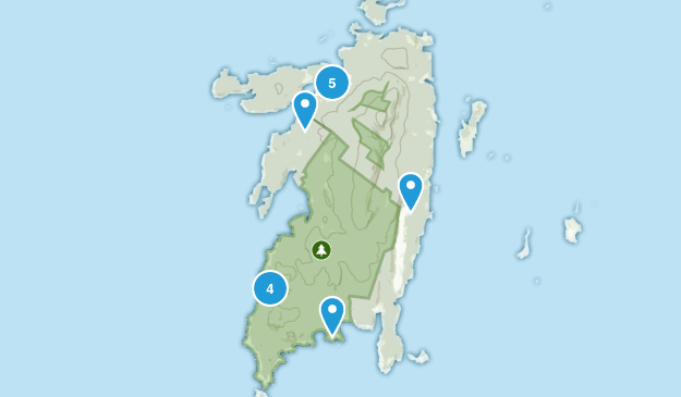 Isle Au Haut, Maine Hiking Map