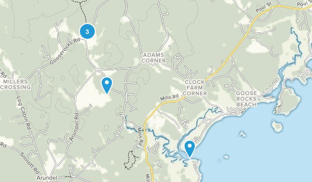 Kennebunkport, Maine Trail Running Map