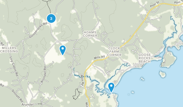Kennebunkport, Maine Walking Map