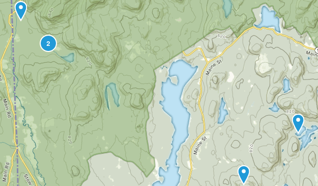 Lovell, Maine Hiking Map