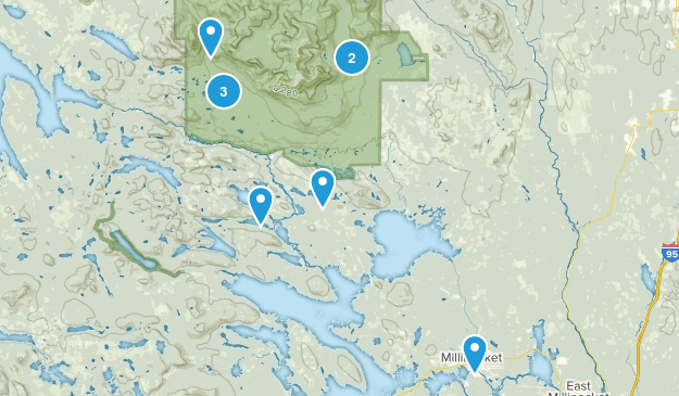 Millinocket, Maine Trail Running Map