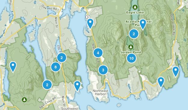 Mt Desert, Maine Dogs On Leash Map