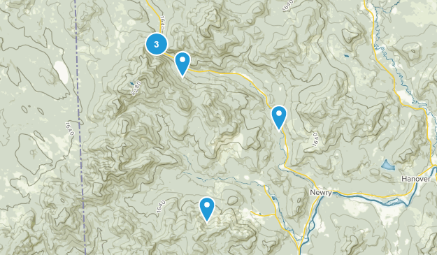 Newry, Maine Walking Map