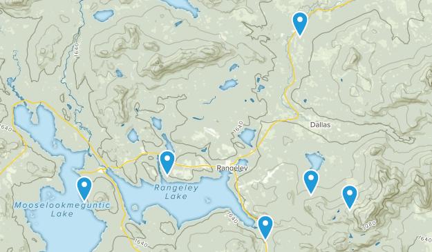 Rangeley, Maine Hiking Map