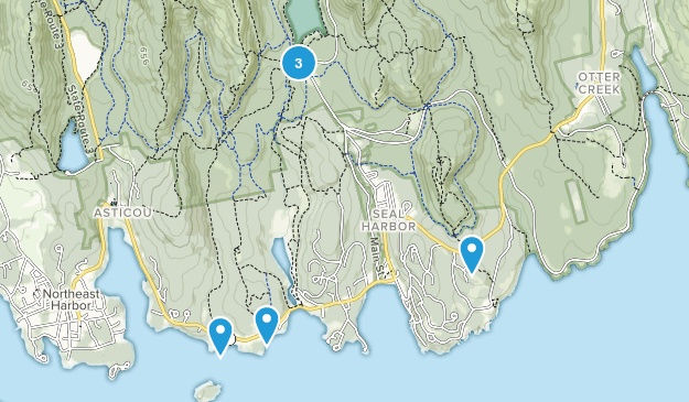 Seal Harbor, Maine Forest Map
