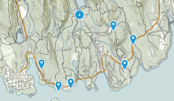 Seal Harbor, Maine Hiking Map