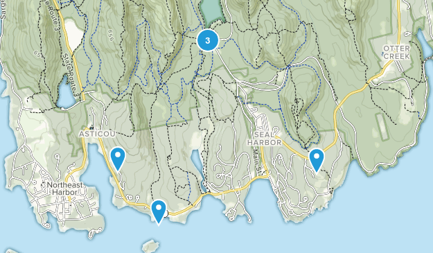 Seal Harbor, Maine Trail Running Map