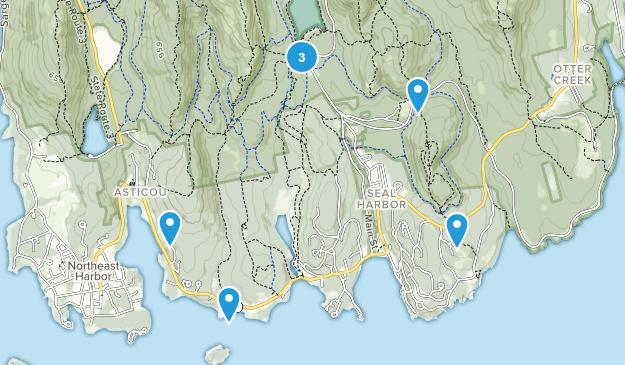 Seal Harbor, Maine Walking Map