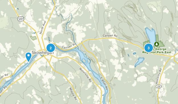 Skowhegan, Maine Hiking Map