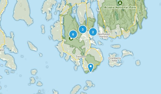 Southwest Harbor, Maine Dogs On Leash Map
